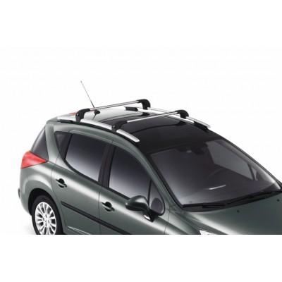 Juego de 2 barras de techo transversales Peugeot 207 SW