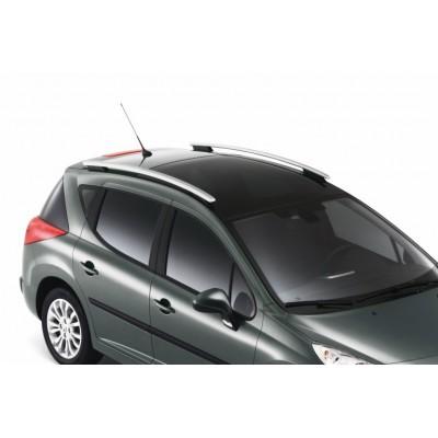 Serie di 2 barre del tetto longitudinali Peugeot 207 SW (tetto di vetro)