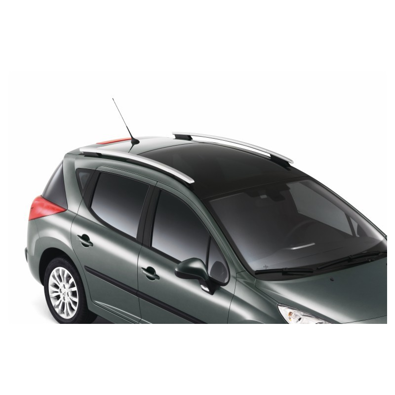 Juego de 2 barras de techo longitudinales Peugeot 207 SW (techo de cristal)