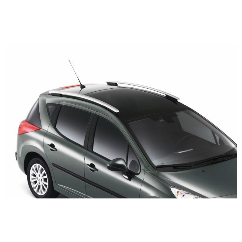 Sada 2 podélných střešních tyčí Peugeot 207 SW (prosklená střecha)
