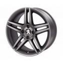 "Set of 4 alloy wheels Peugeot DARK STROMBOLI 17"" - 308"