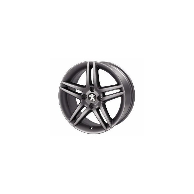 """Juego de 4 llantas de aleación Peugeot DARK STROMBOLI 17"""" - 308"""