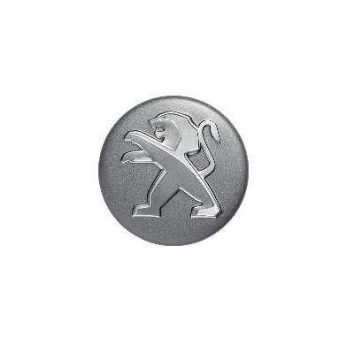Středové krytky Peugeot - šedé matné