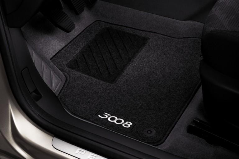 Set of needle-pile floor mats Peugeot 3008 | Eshop-Peugeot.cz