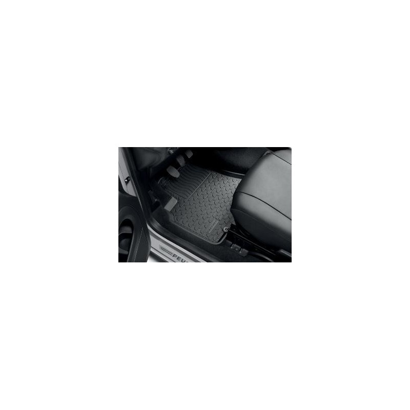 Set of rubber floor mats Peugeot Partner Tepee