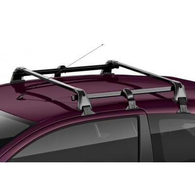 Juego de 2 barras de techo transversales Peugeot 108 3 Puertas, Citroën C1 (B4) 3 Puertas