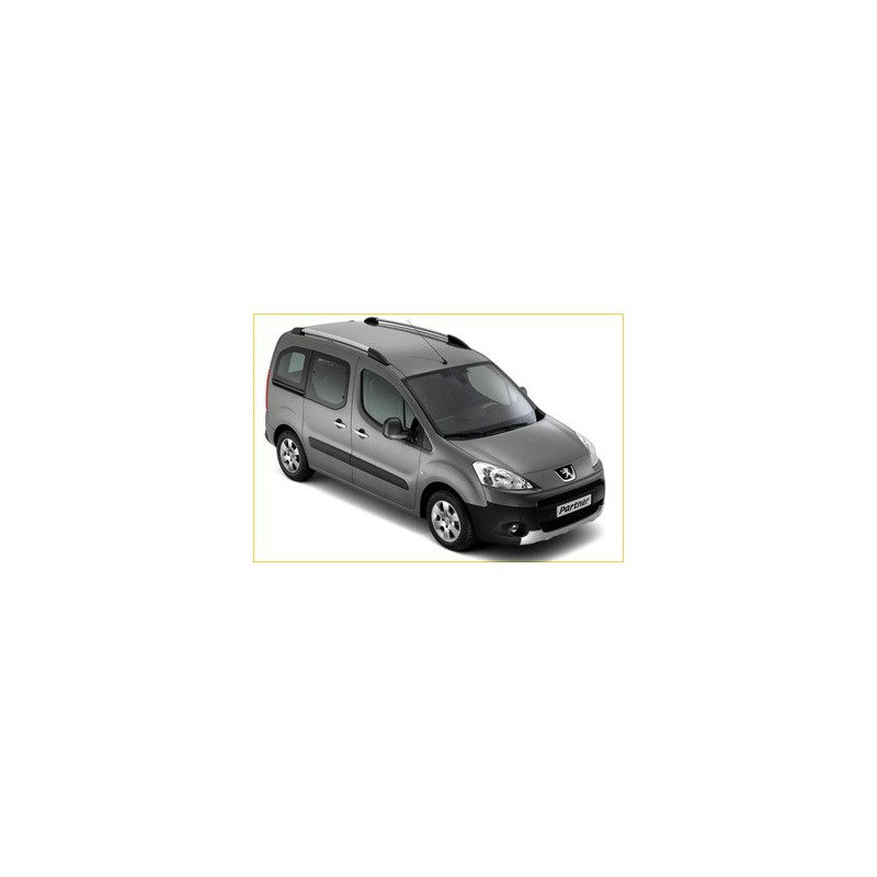 Juego de 2 barras de techo longitudinales Peugeot Partner (Tepee) B9, Citroën Berlingo (Multispace) B9