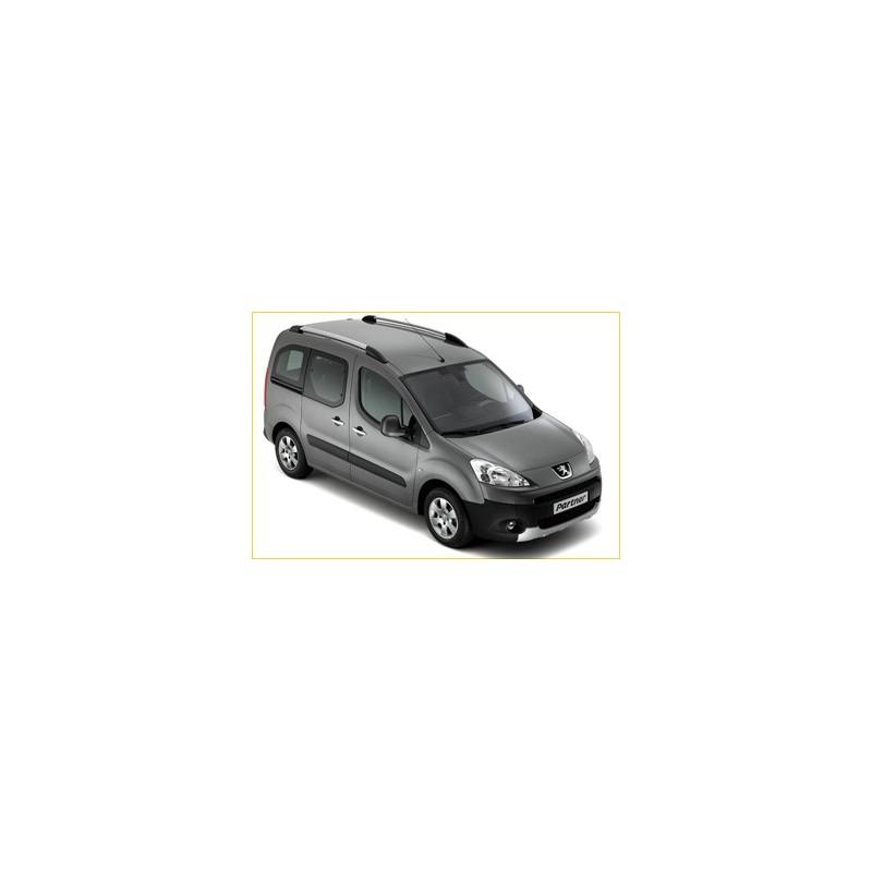 Sada 2 podélných střešních tyčí hliník Peugeot Partner Tepee