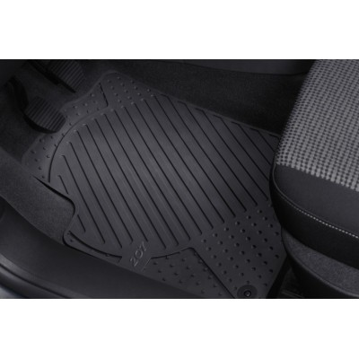 Set of rubber floor mats front Peugeot 207, 207 SW, 207 CC