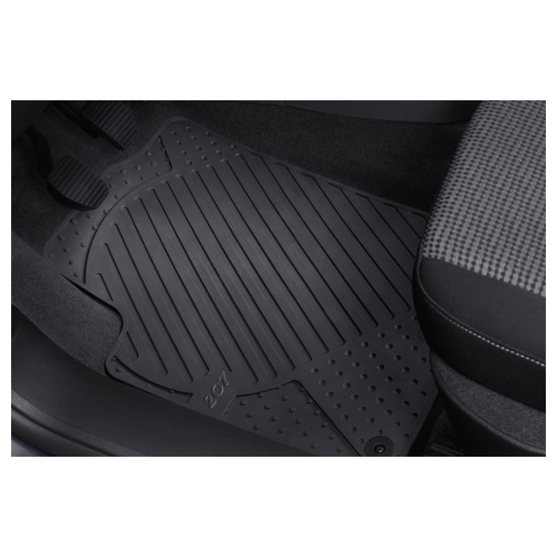 Set of rubber floor mats front Peugeot 207, 207 SW, 207 CC