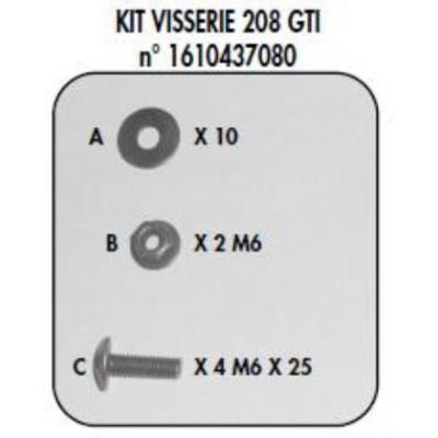 Sada připevňovacích prvků 208 GTi