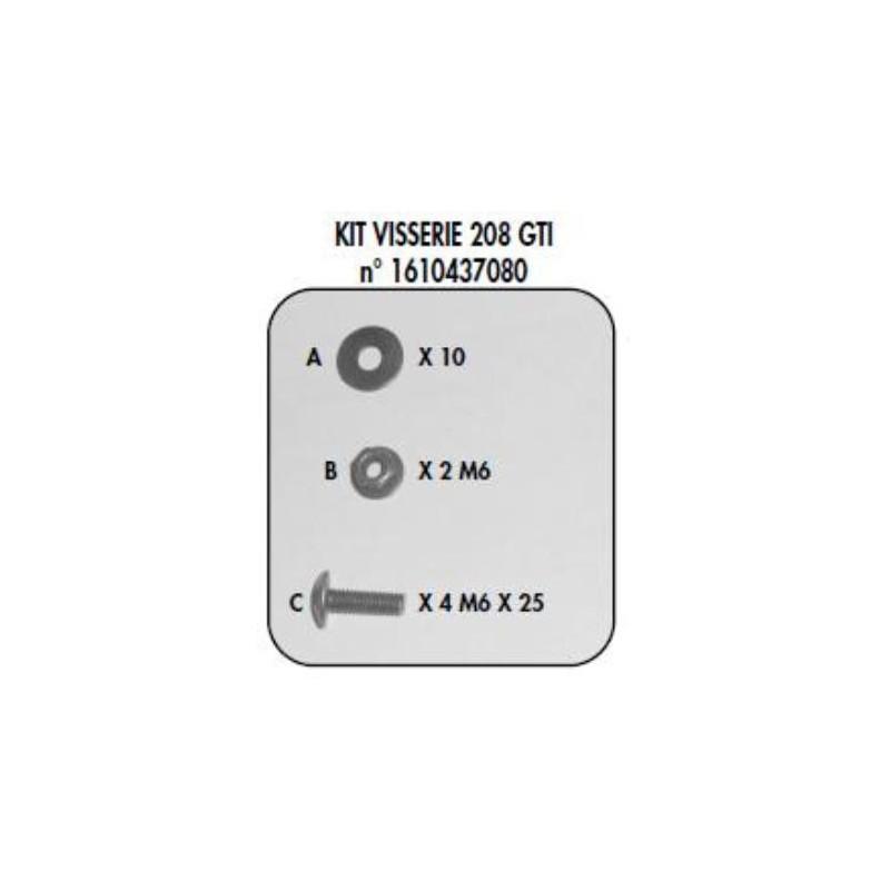 Sada připevňovacích prvků - 208 GTi
