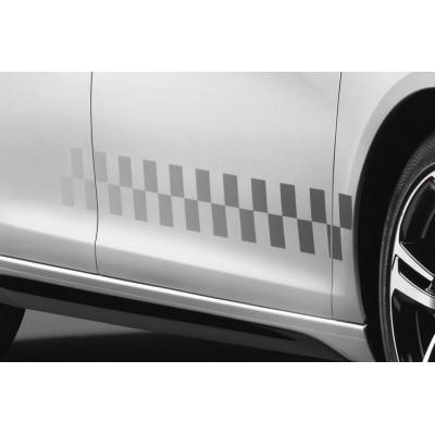 Set mit 4 Seitenaufklebern mit Schachbrettmuster LIGNE S Peugeot - 308 (T9), 308 SW (T9)