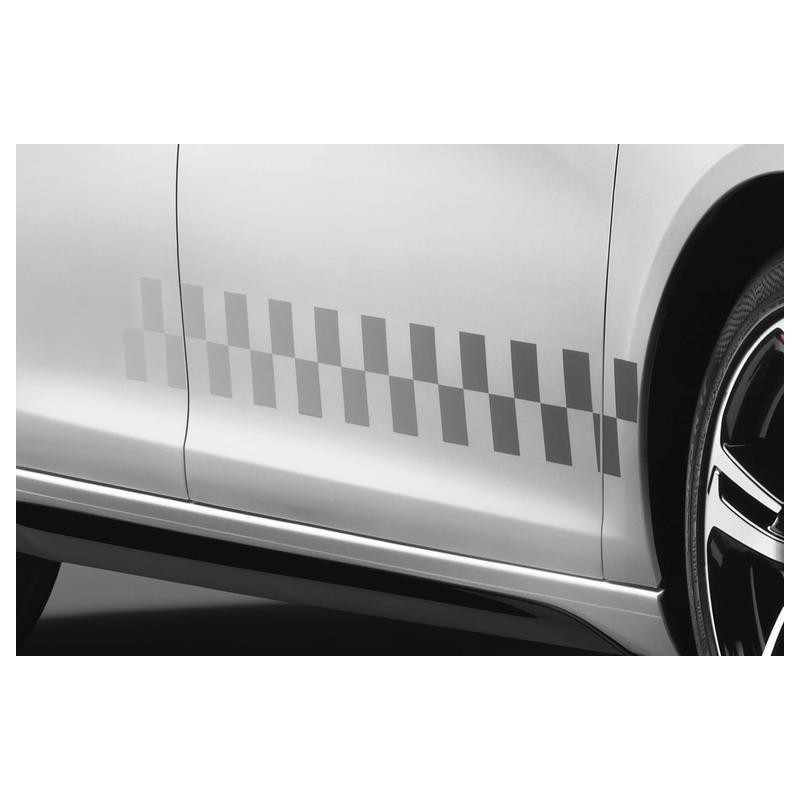 Set of lateral stickers chequered LIGNE S Peugeot - 308 (T9), 308 SW (T9)