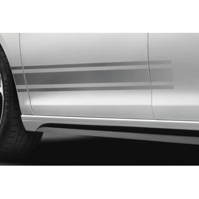 Set mit 4 Seitenaufklebern mit Doppelstreifen LIGNE S Peugeot - 308 (T9), 308 SW (T9)