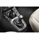 Gear lever gnob BVM5 Peugeot - black leather and aluminium