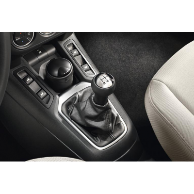 Hlavice řadící páky BVM5 Peugeot - černá kůže a hliník