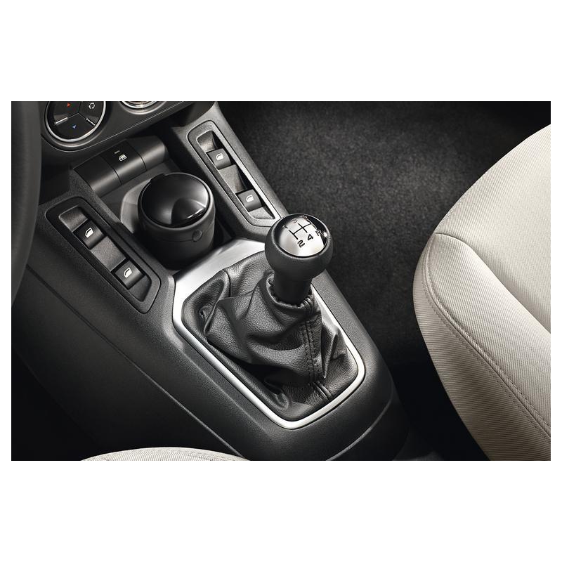 Pomello della leva del cambio BVM5 Peugeot - pelle nera e alluminio