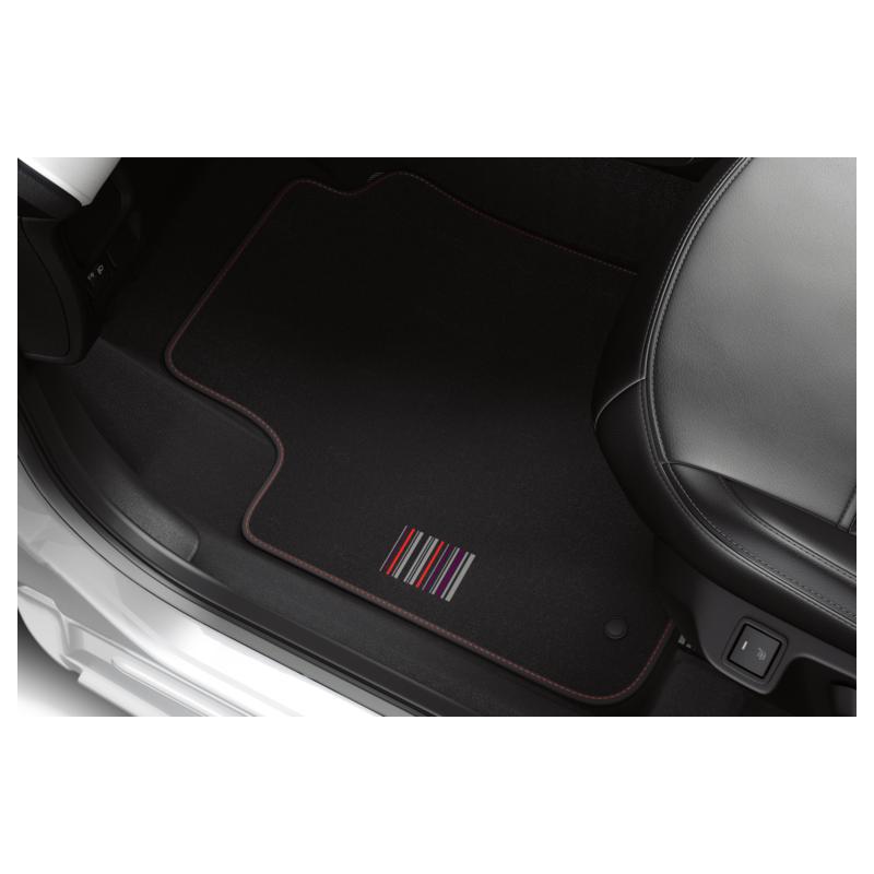 "Serie di tappetini in velluto ""BARCODE"" Peugeot 108"