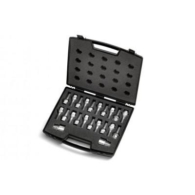 Maletín con tornillos antirrobo y tornillos para llanatas de acero Peugeot