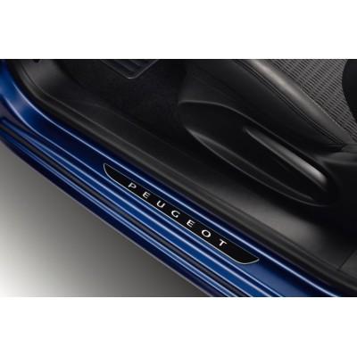 Serie di 2 battitacco per porte anteriori DARK CHROME Peugeot - 208, 2008, 308 (T9), 308 SW (T9)