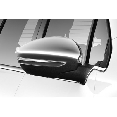 Set of 2 protection shells CHROME for exterior rear view mirrors Peugeot - 208, 2008
