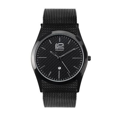 Reloj de hombre Peugeot con pulsera negra
