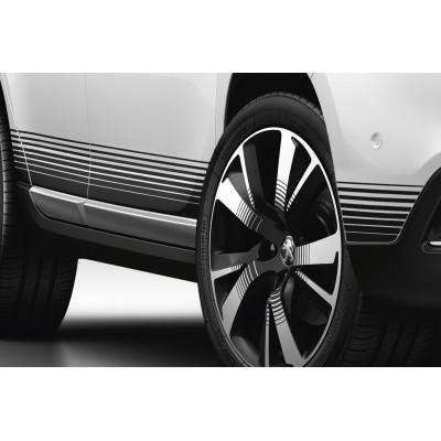 Satz von 2 seitlichen Schwelleraufklebern NOIR Peugeot 2008