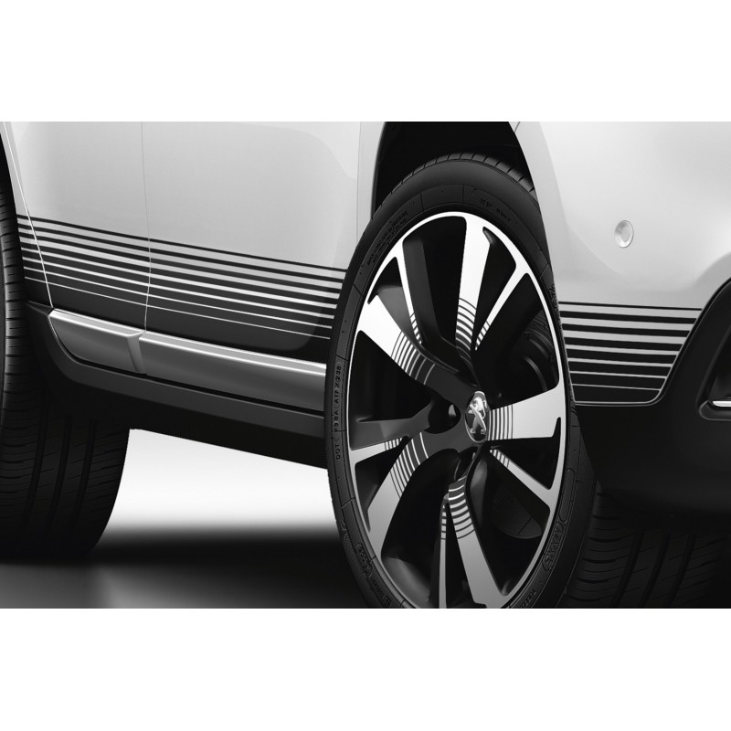 Side of side stickers NOIR for body sills Peugeot 2008