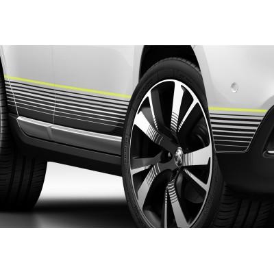 Satz von 2 seitlichen Schwelleraufklebern CITRUS Peugeot 2008