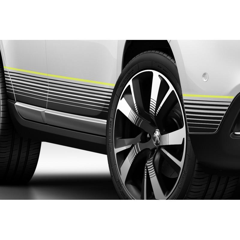 Serie di 2 adesivi laterali per sottoscocca CITRUS Peugeot 2008