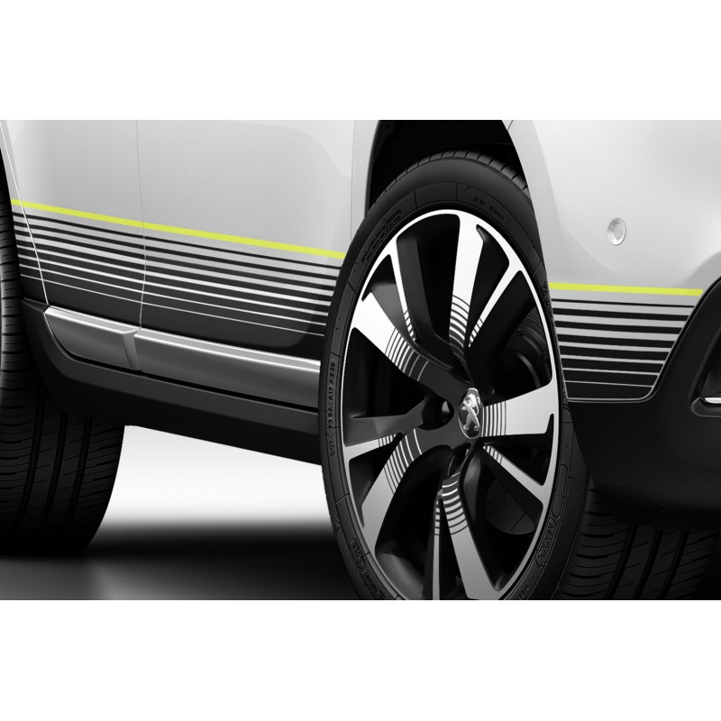 Side of side stickers CITRUS for body sills Peugeot 2008