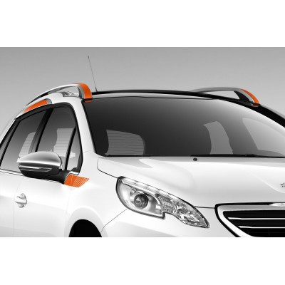 Side of side stickers ORANGE for the upper area Peugeot 2008