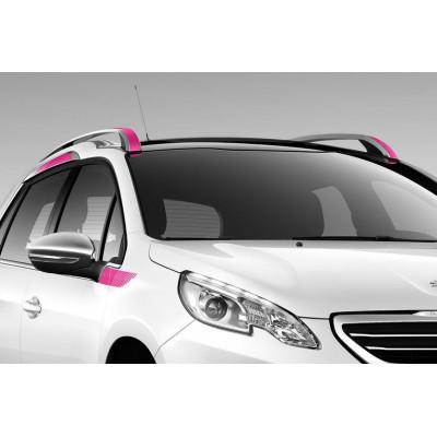 Serie di 8 adesivi laterali zona superiore PINK Peugeot 2008