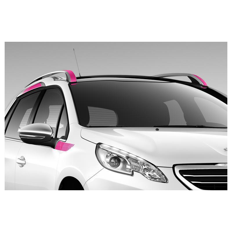 Juego de 8 adhesivos laterales zona superior PINK Peugeot 2008