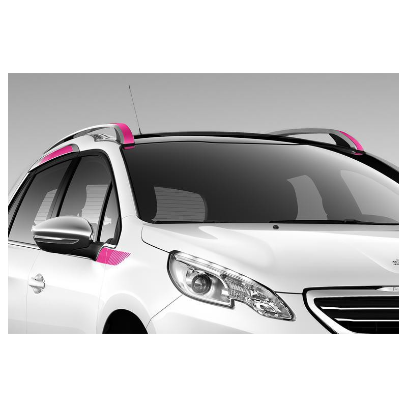Side of side stickers PINK for the upper area Peugeot 2008