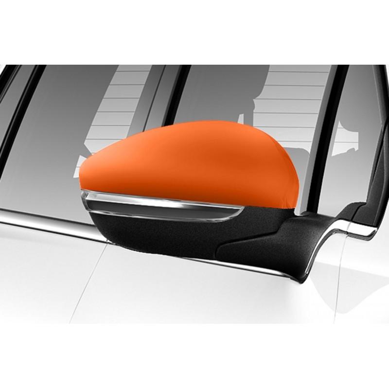 Sada oranžových krytiek vonkajších spätných zrkadiel Peugeot 2008