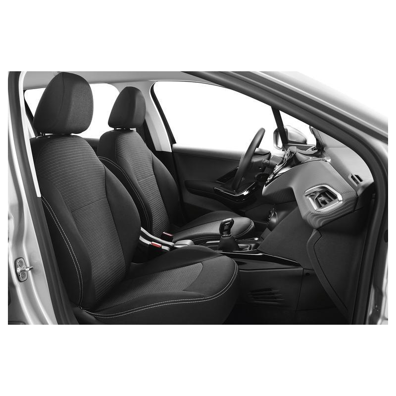2 BLACK FRONT VEST CAR SEAT COVERS PROTECTORS FOR PEUGEOT 2008