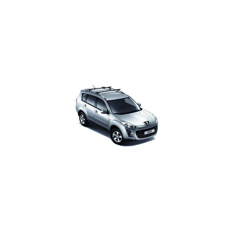 Juego de 2 barras de techo transversales Peugeot 4007 sin barras