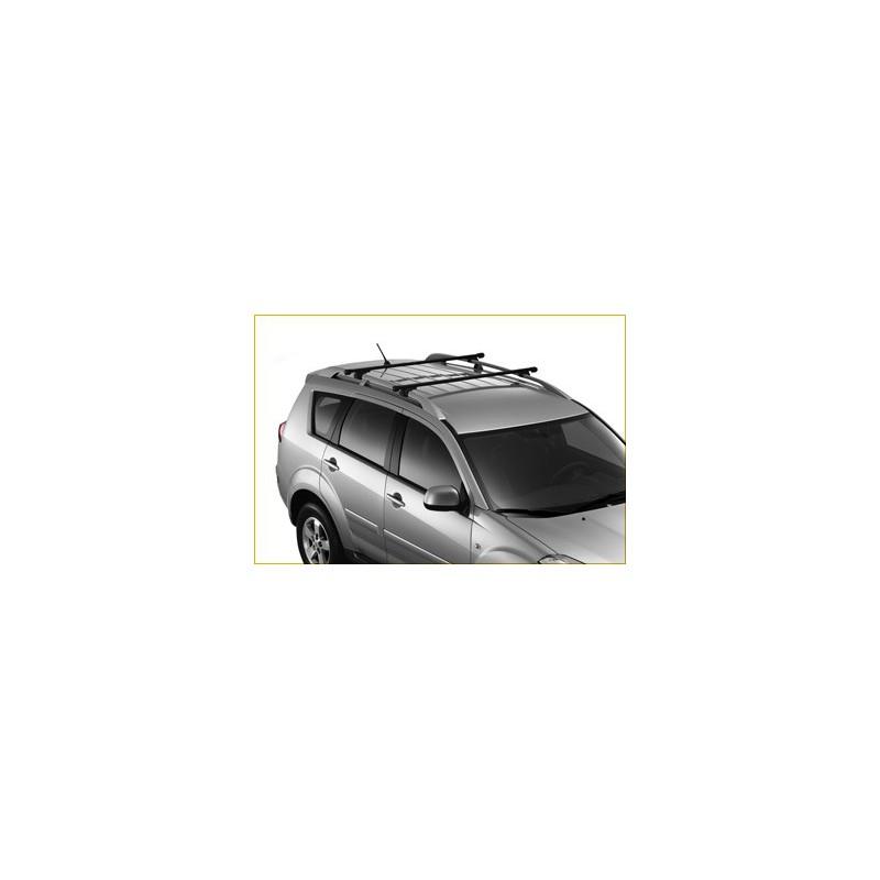 Juego de 2 barras de techo transversales Peugeot 4007 con barras
