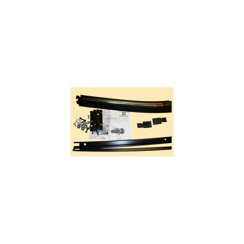 Longitudinal rail kit for transverse roof bars Peugeot 807