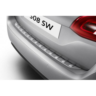 Boot sill protector of stainless steel Peugeot - New 308 SW (T9)