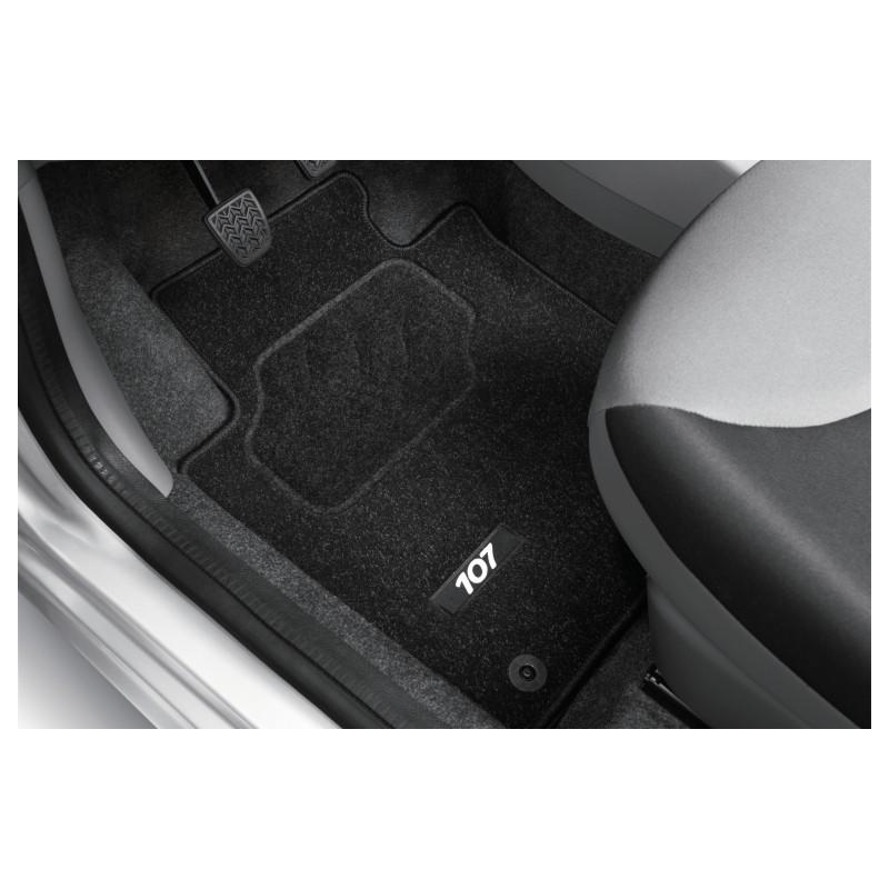 Satz bodenmatten aus nadelflies-qualität Peugeot 107