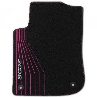 "Set of velour floor mats ""PINK"" Peugeot 2008"