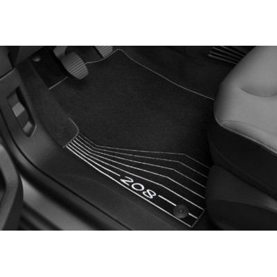 "Velúrové koberce ""MENTHOL WHITE"" Peugeot 208"