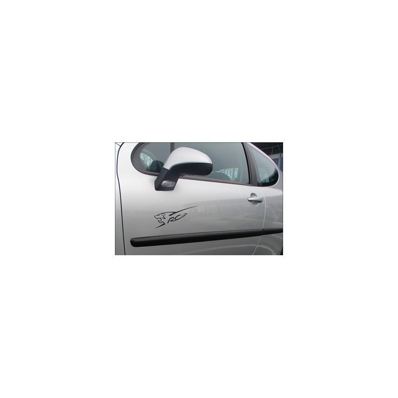Adhesive decors dark grey RCUP Peugeot