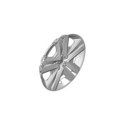 Peugeot hubcaps on the wheels ZIRCONIUM 16""