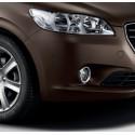 Set of 2 chrome effect trims for foglamps Peugeot 301