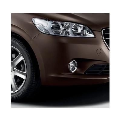 Chrómové rámčeky hmlových svetlometov Peugeot 301