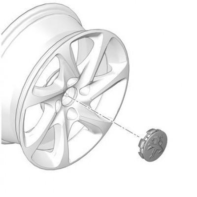 Středová krytka Peugeot grey